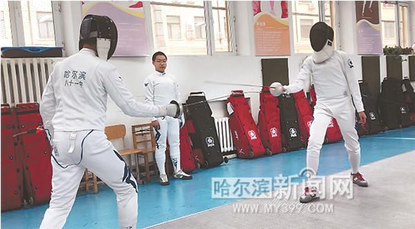 """当跳绳等还是体育课""""标配""""时,哈81中学学生已获得全省比赛花剑"""