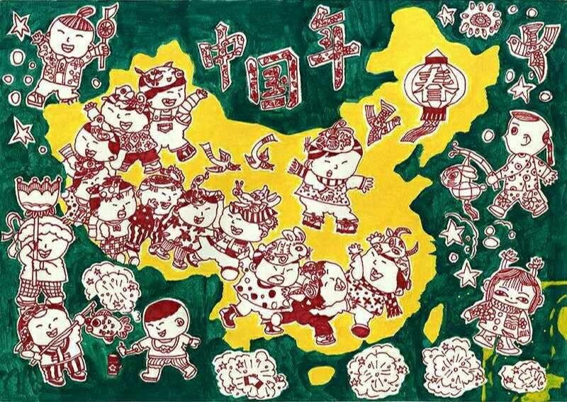 安徽休宁一少儿手绘地图获全国大赛三等奖