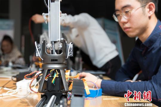 首屆國際青年人工智能大賽現場黑河學院供圖