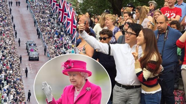 徐子淇夫妇看英女王庆典 相拥自拍超甜蜜(图)【星看点】