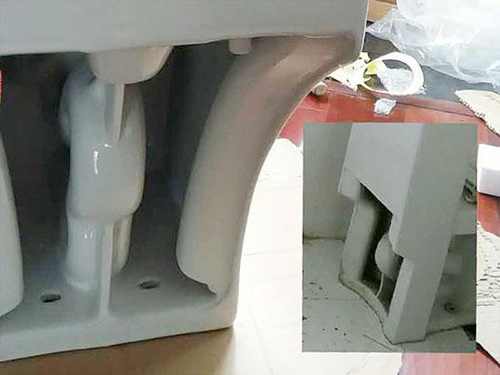 浪鲸虹吸式节水防臭抽水马桶CO-1065
