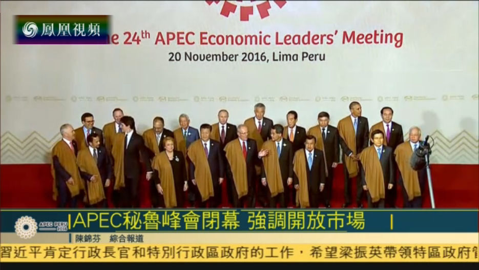 APEC峰会在秘鲁闭幕 各方承诺保持市场开放