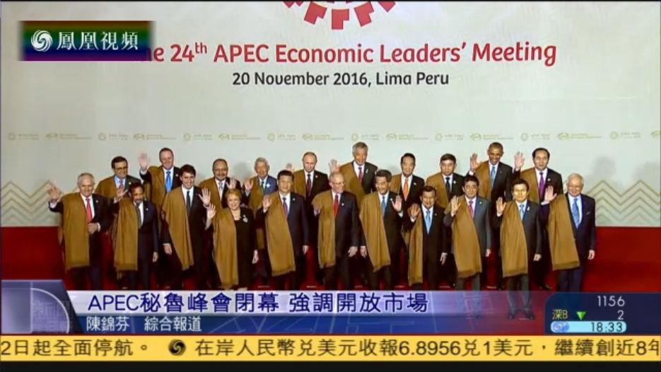 APEC秘鲁峰会闭幕 联合声明强调开放市场