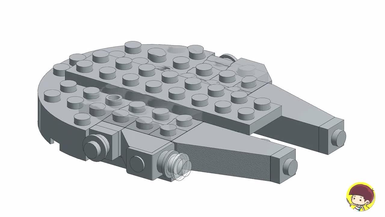 lego乐高积木moc 宇宙超级战舰 积木图纸魔拼动画