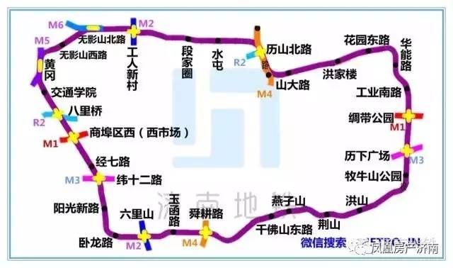 M2线全长26.3km,其中地下线长约15.8km,地面及高架线长约10.5km,设车站18座,其中地下站12座,高架站5座,地面站1座;其中换乘站6座,设南康车辆段、老屯停车场,线路中部预留泺口西停车场;