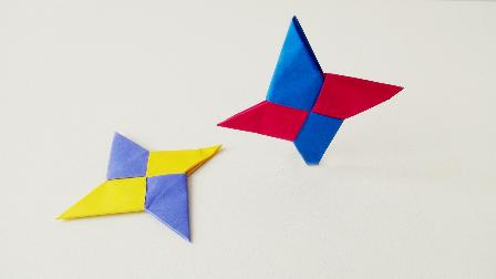 亲子手工折纸,简单飞镖的折法