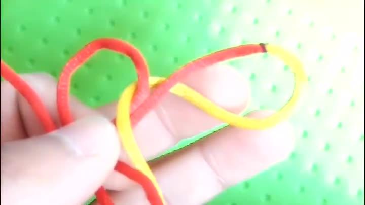 手工编绳,中国结之幸运吉祥的酢浆草结编织方法