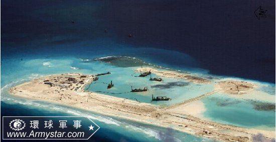 南沙群岛最新填海囹�a_南沙群岛永暑礁填海造岛