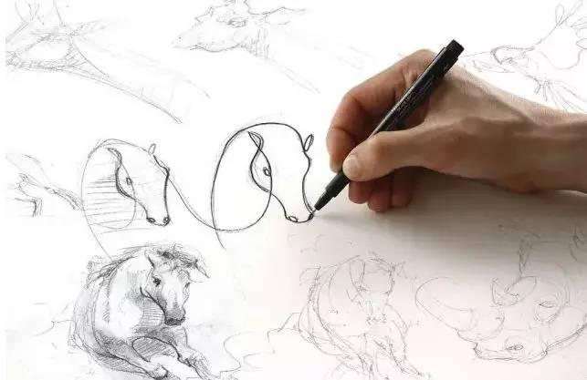 如何一笔画动物,艺术家是这样做的