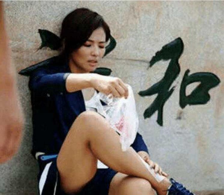刘涛演戏脚踝受伤 却