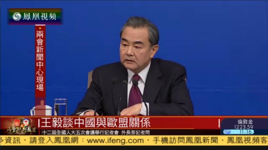 王毅:中国将继续支持欧洲一体化进程