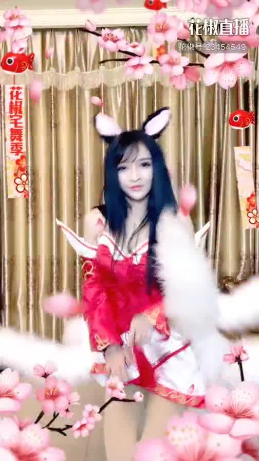 辣妹cos九尾狐性感热舞,满屏都是大长腿
