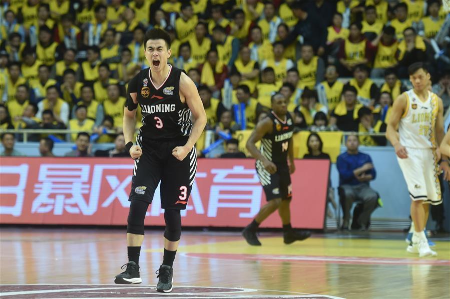 (体育)(1)篮球�D�DCBA四分之一决赛第三场:辽宁本钢胜浙江广厦