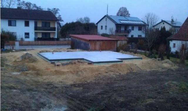 整体结构的全现浇钢筋混凝土板式基础