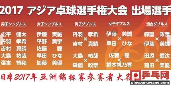 亚锦赛日本独缺一哥一姐,水谷石川潜伏有玄机?