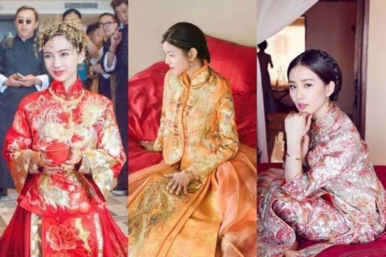 近年来,从明星的婚礼中,不难看出,中式嫁衣愈发走红,从黄晓明baby,到图片