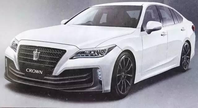 2018款丰田皇冠换代曝光,这又是一款玩vip改装的好底子!