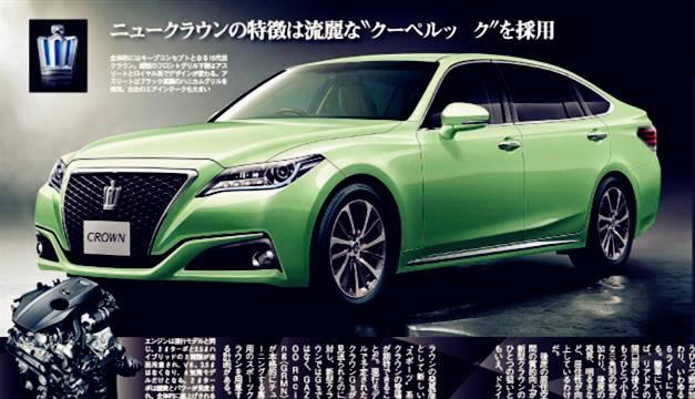 丰田皇冠2016换代_2018款丰田皇冠换代曝光,这又是一款玩vip改装