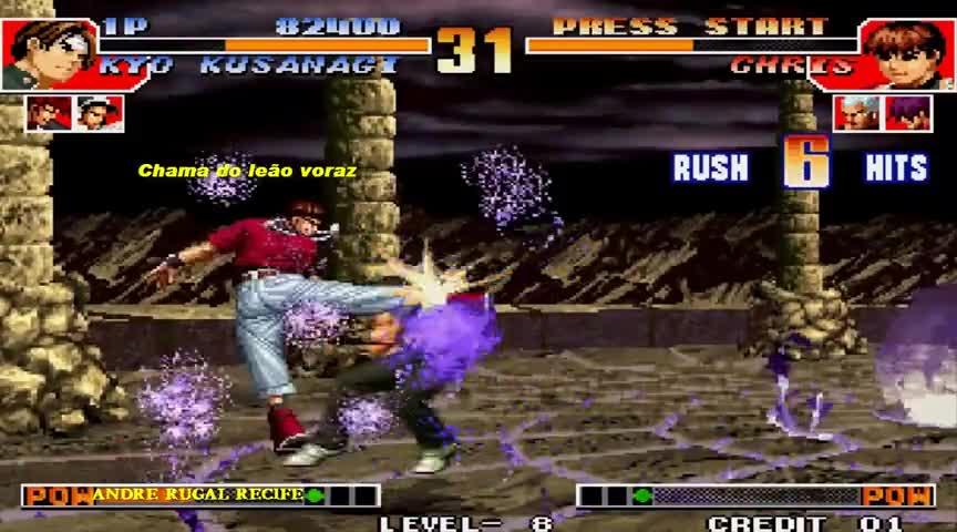 拳皇97克里斯在草剃京面前放大蛇剃 结果被秀一脸