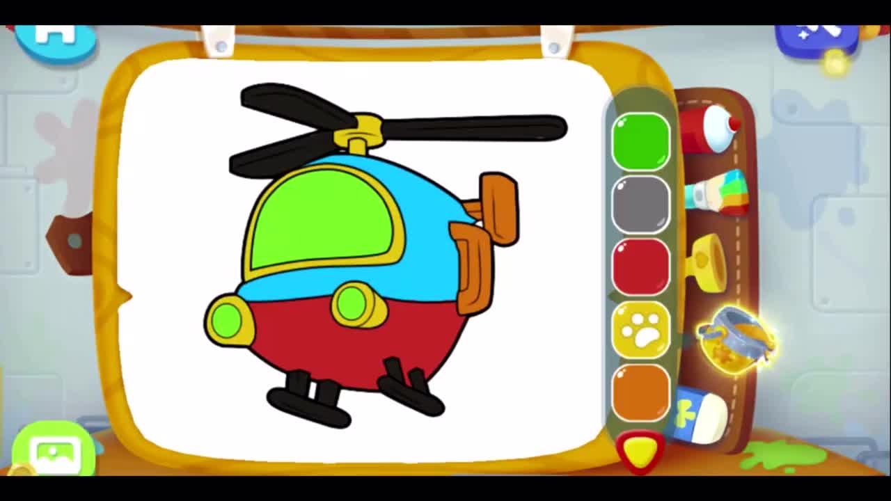 各种汽车动物涂色绘画 早教益智动漫