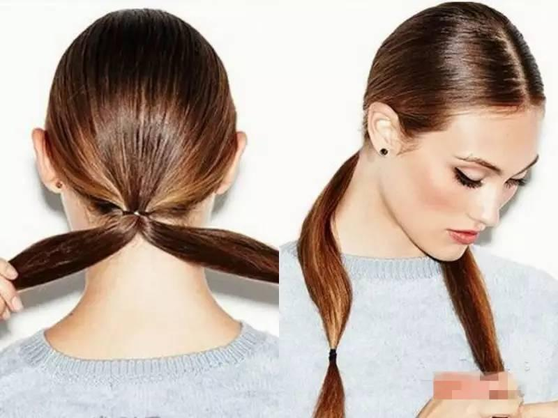 长直发简单盘发发型步骤