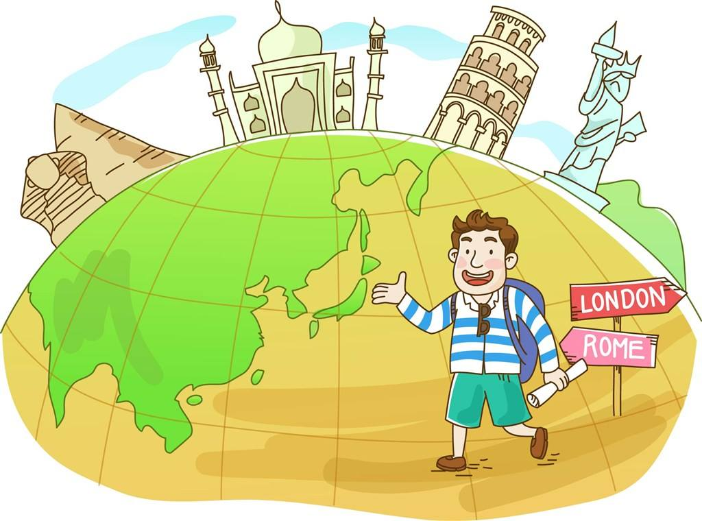 设计一次旅行绘画图片