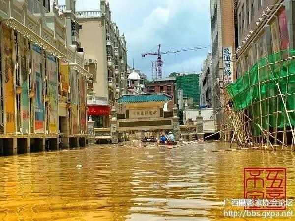 2005年洪水----梧州生活 2005年洪水----长洲岛 2005年洪水河东航拍