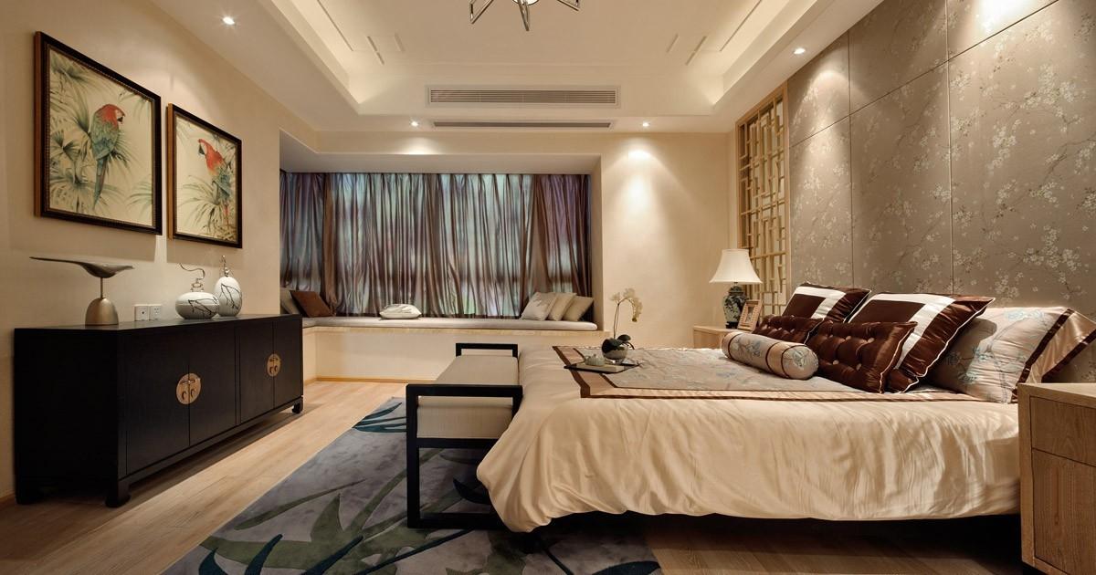 中式卧室硬包图片