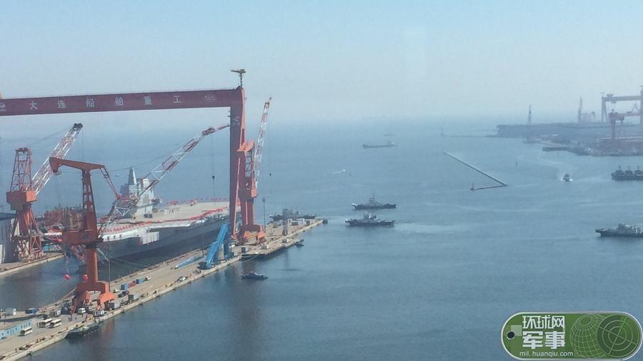 我国第二艘航空母舰下水 范长龙出席下水仪式并致辞 - hnhyljj - 羅傑軍      博客
