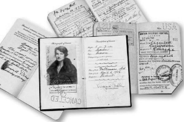 霍尔使用过的护照