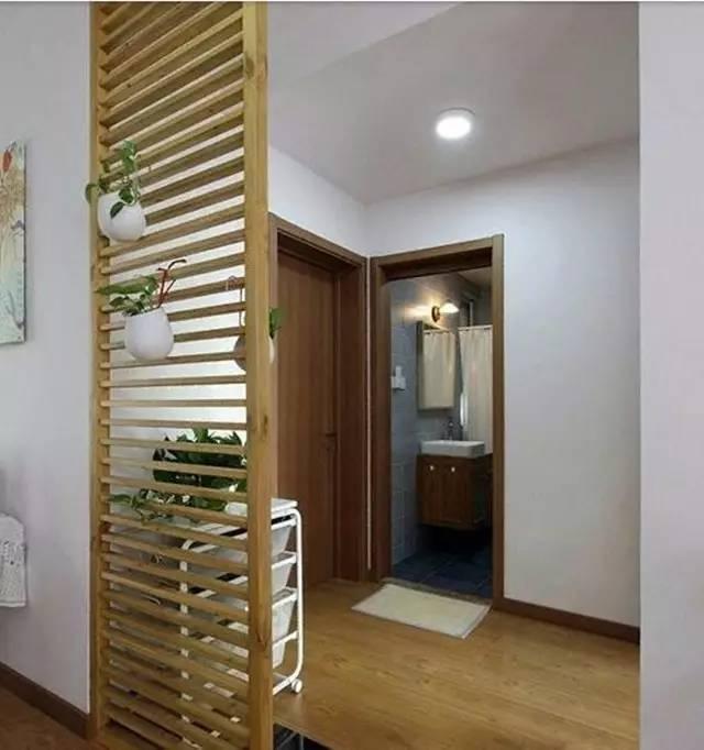玄关木条装饰图