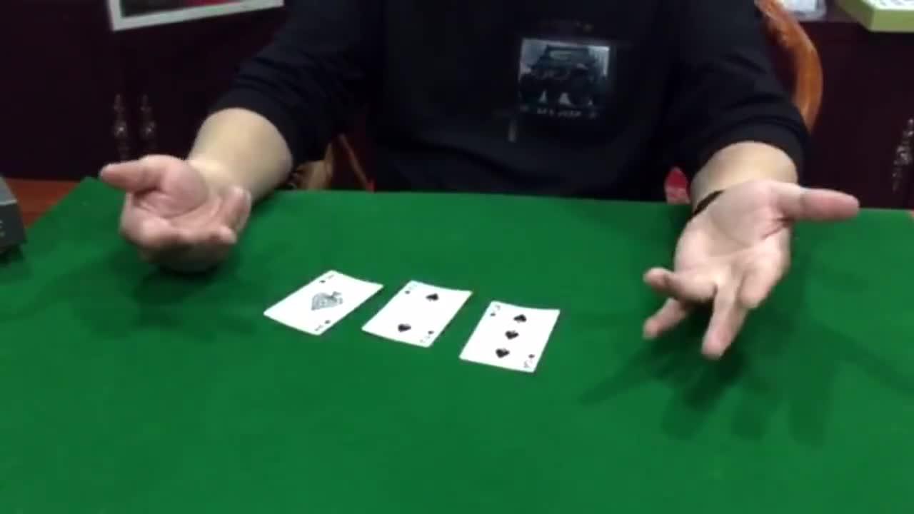 扑克魔术之纯手法变牌绝技