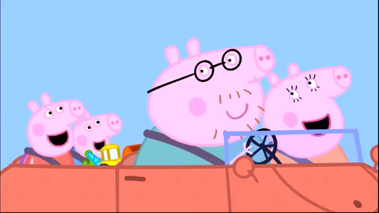 《小猪佩奇》:佩琪一家人在泥坑里跳来跳去