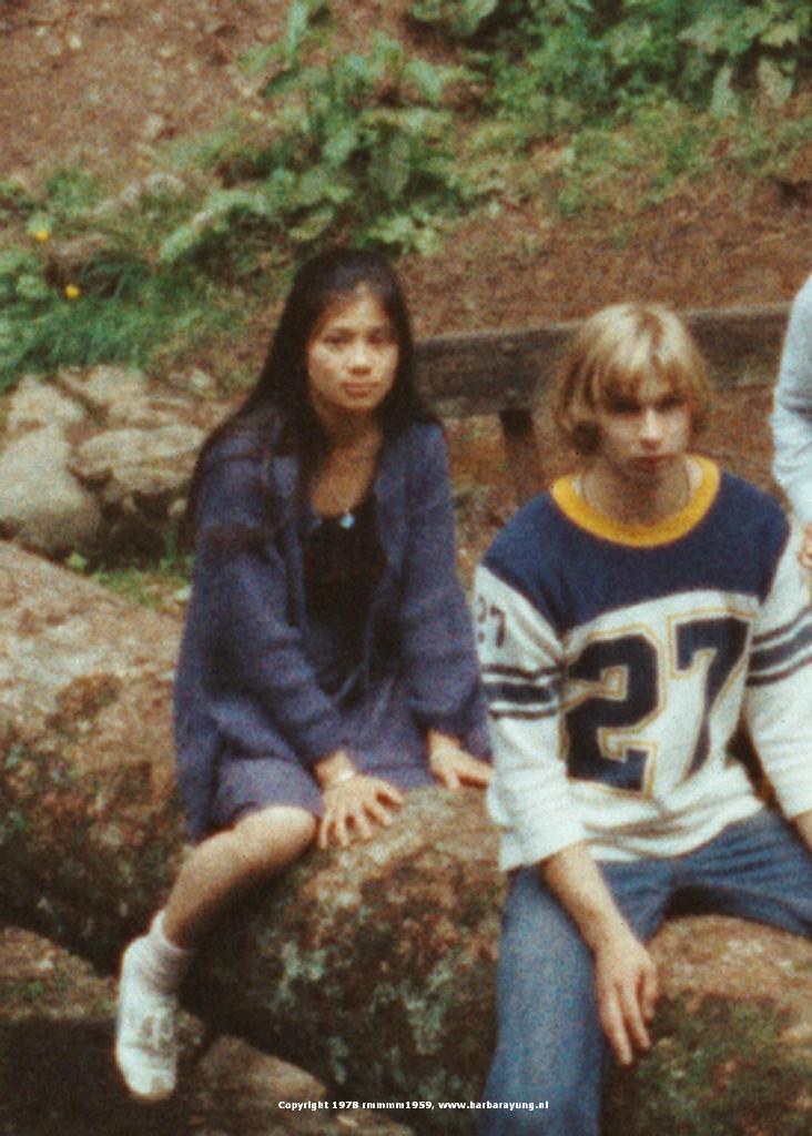1978 crawling on fallen down tree