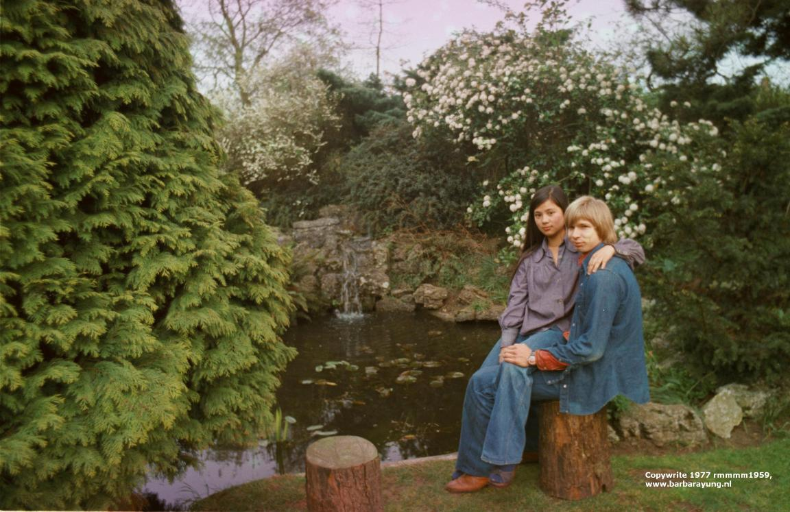 1977 my parents backgarden on my lap