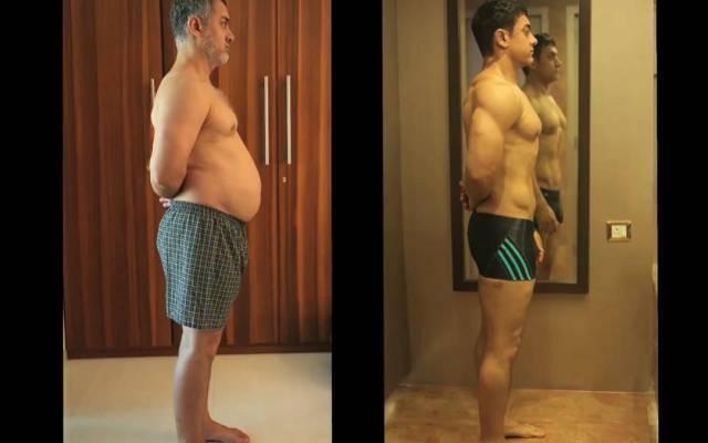 阿米尔汗为电影爆肥再瘦身。图片来自网络。