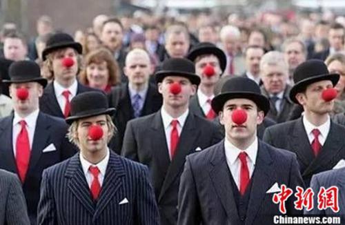"""英国公益活动""""红鼻子节"""""""