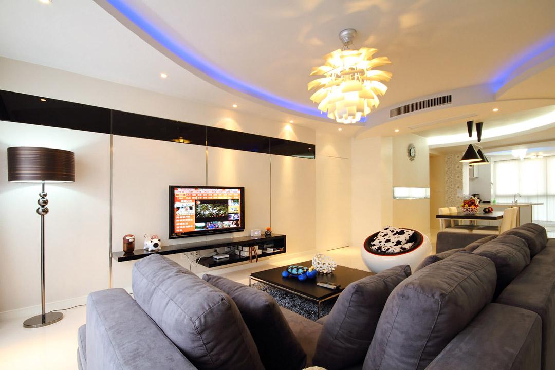 116㎡现代简约,客厅吊顶的藏光,现代又时尚!