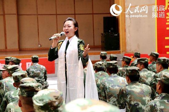 文工团进武警西藏总队后勤保障基地慰问演出