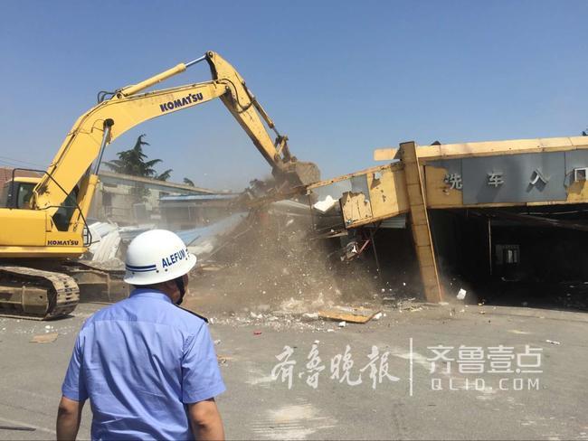 6万平方米!青岛最大面积违建浮山后铁艺街开拆