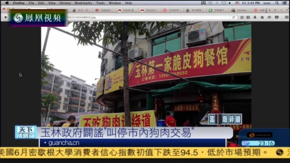 """广西玉林辟谣""""叫停市内狗肉交易"""""""
