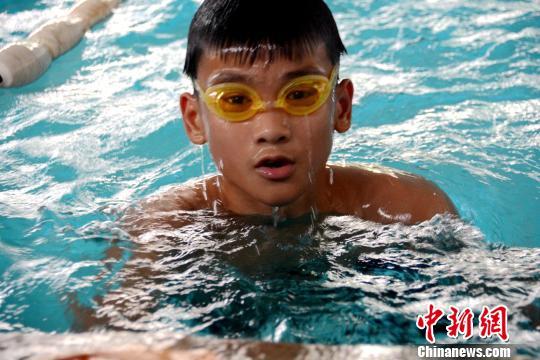 此次集训中最小的运动员,年仅12岁。