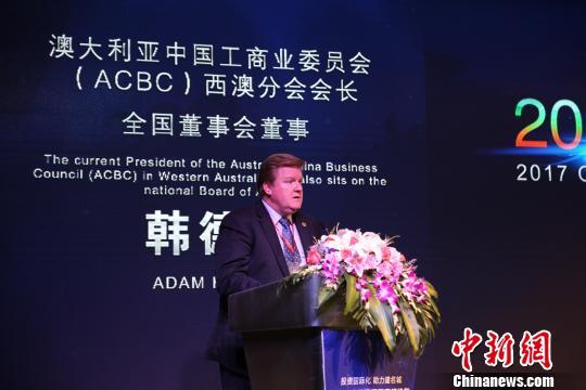 澳大利亚中国工业商业委员会西澳分会会长Adam Handley 倪追风 摄