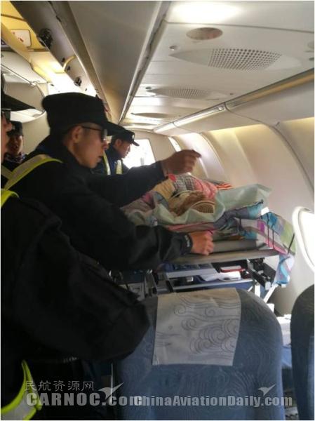国航西藏分公司全力保障担架旅客安全成行
