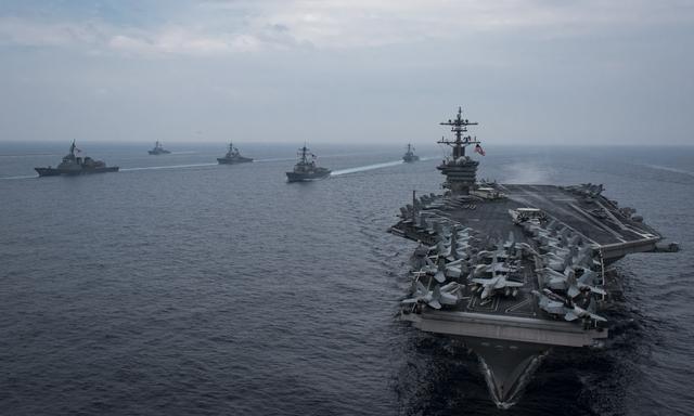 美航母战群爆出大乌龙 苦寻失踪水兵竟发现.....