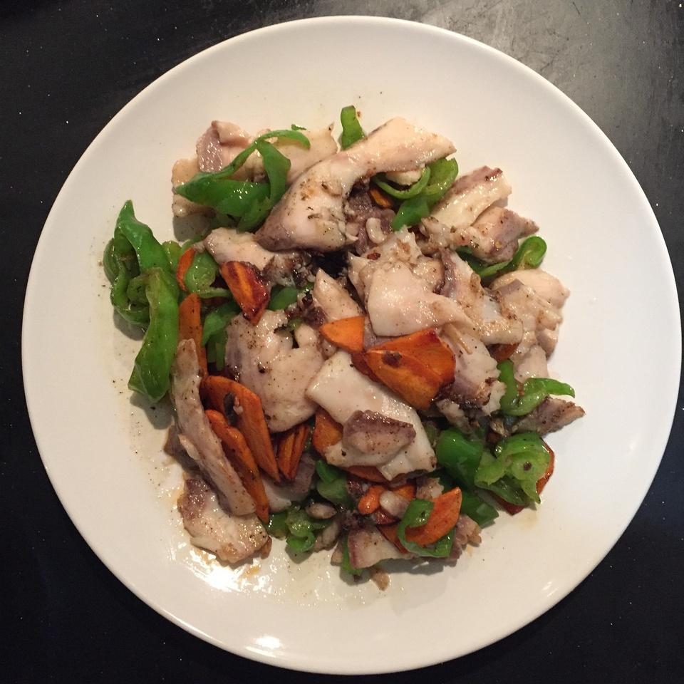 2,生炒蘑菇/鱼片步骤高压锅炖鹅肉鱼片图片