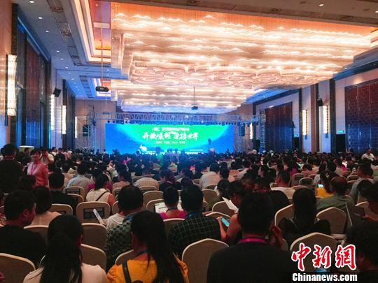"""6月23日,""""第六届湖南电子商务大会""""在长沙召开。 鲁毅 摄"""