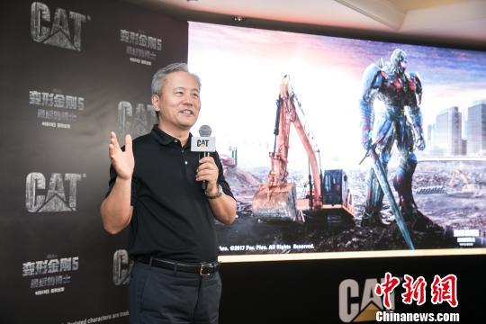 卡特彼勒(中国)投资有限公司董事长陈其华接受采访 李双南 摄