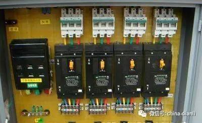 配电柜或总配电箱,分配电箱,开关箱,及二级漏电保护