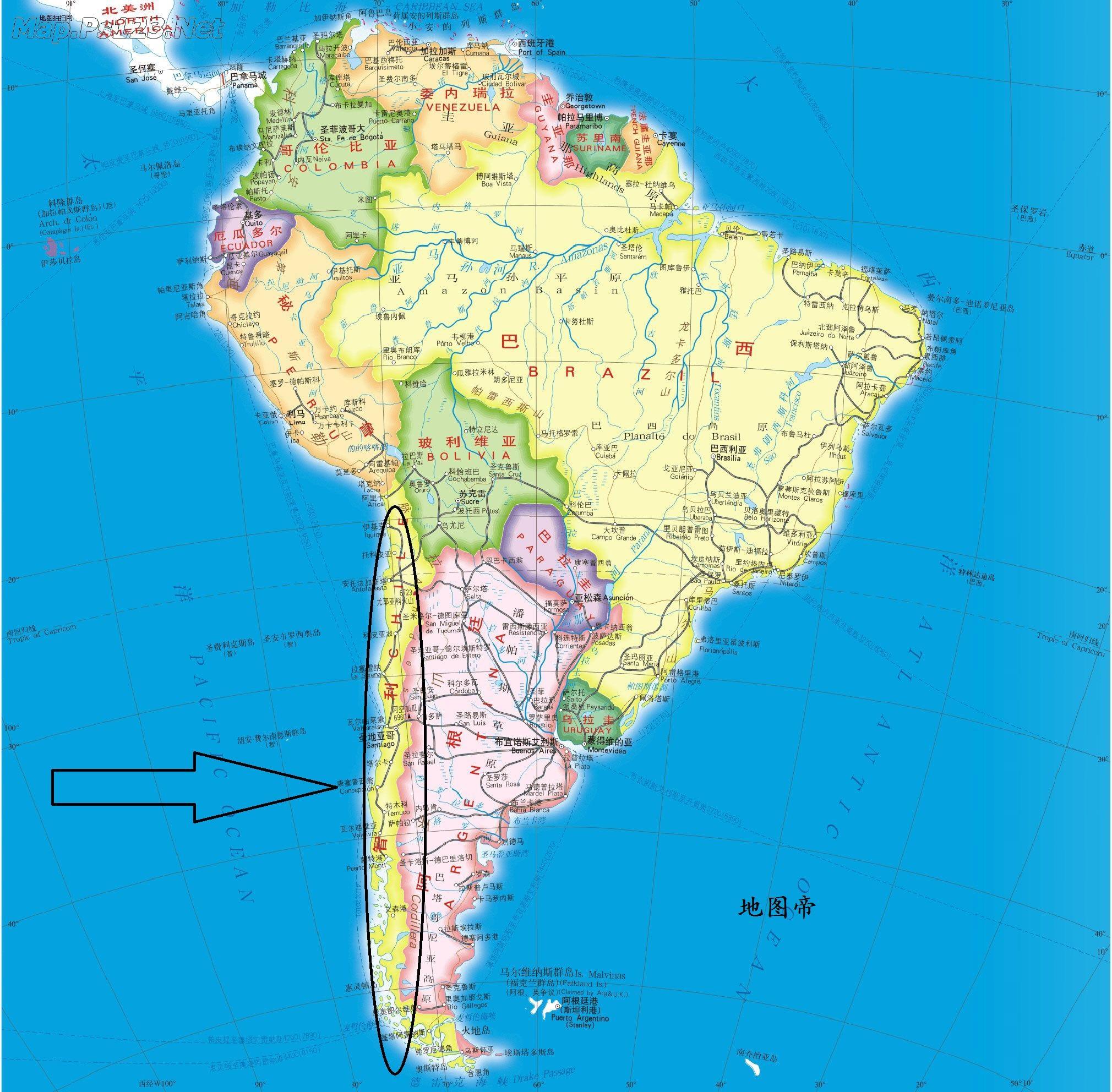 南美人口排名_南美洲人口最多的五个国家,其中巴西是唯一一个人口超1亿的国